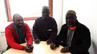 Des émigrés africains en France