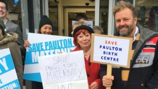 Paulton Maternity Services protest against cuts