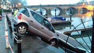 The car in the river