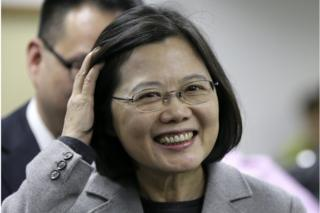 Taiwan opposition leader and president-elect Tsai Ing-wen reacts during an interview before their meeting for parliament reform in Taipei, Taiwan, 20 January 2016.