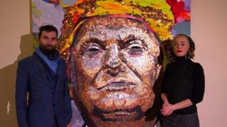 Автори портрета Путіна з гільз виклали Трампа з монет