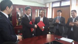 नेपाल विद्युत प्राधिकरण र थ्री गोर्जेजका अधिकारीहरु