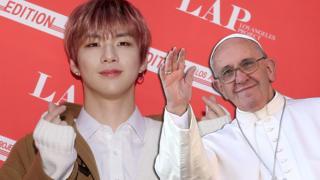 Kang Daniel and Pope Francis