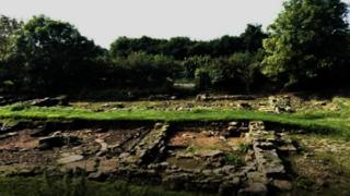 Ruins at Trellech, in Monmouthshire
