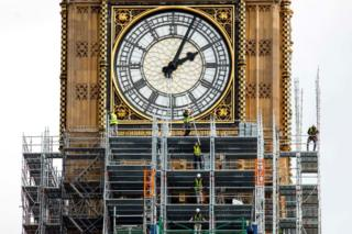 Construction work on Big Ben