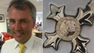 Andrew Ward and an MBE