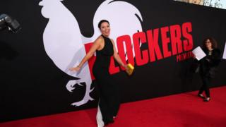 Kay Cannon at the premiere for Blockers