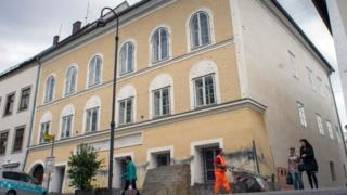 Дом, в котором родился Гитлер в городе Браунау-ам-Инн