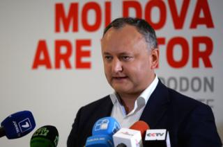 Socialist presidential candidate Igor Dodon. Photo: 30 October 2016