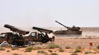 Suriye ordusuna ait zırhlı araçlar