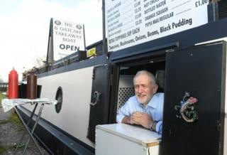 in_pictures Jeremy Corbyn at The Oatcake Boat cafe