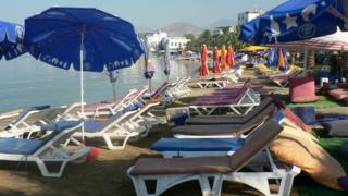 Bodrum beach in Turkey