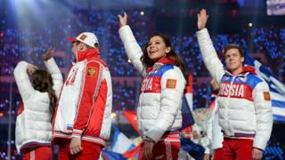 Closing ceremony, Sochi Olympics, 23 Feb 14