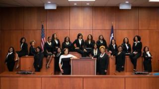 The 19 women were elected to county judgeships on Tuesday An zabi mata 19 a matsayin alkalai a Amurka a ranar Laraba