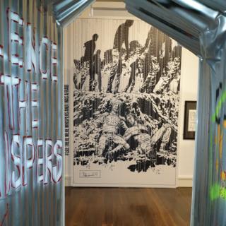 Tunnel walkthrough in the exhibition