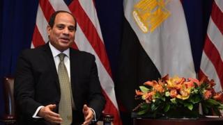 الرئيس المصري عبد الفتاح السيسي خلال زيارته للولايات المتحدة