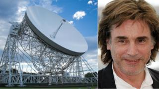 The Lovell Telescope and Jean Michel Jarre