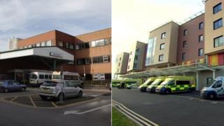 County Hospital and Royal Stoke University Hospital