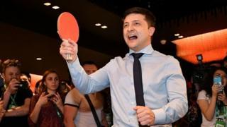 Володимир Зеленський з тенісною ракеткою
