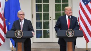 Jean-Claude Juncker ve Donald Trump