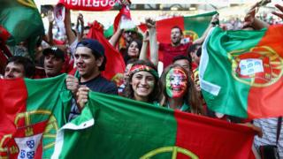 Portugal fans at Euro 2016
