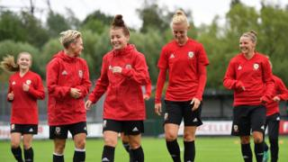 Wales team training