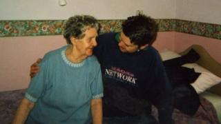 Evelyn Jones pictured with her grandson Gareth