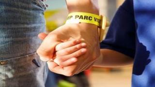Prison visitor wristband