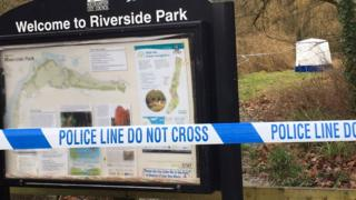 Tent and cordon around scene of discovered human remains in Southampton