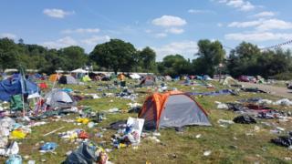 Reading Festival tents