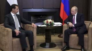 الرئيس الروسي في لقاء مع نظيره السوري