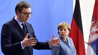 Predsednik Srbije Aleksandar Vučić i nemačka kancelarka Angela Merkel, Berlin, 28. februar 2018