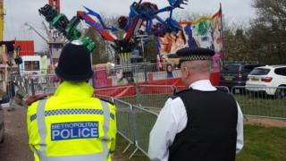 Police at Philpots Farm