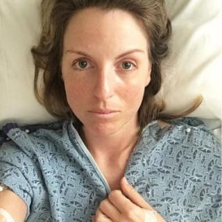 Claire Nelson in hospital