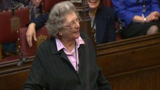 Baroness Trumpington speaking in the House of Lords