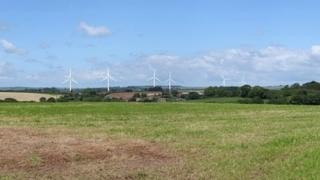 An artist's impression of the turbines at Slyer's Lane