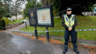 Policeman at Gorsedd Gardens