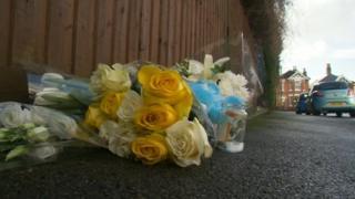Flowers at scene