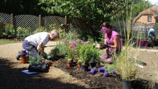 Herne Bay care home garden