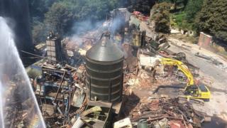 Bosley explosion site