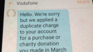 Vodaphone text message