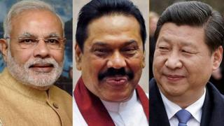 नरेंद्र मोदी, महिंदा राजपक्षे, शी जिनपिंग