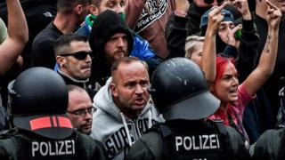 Far-right protesters in Chemnitz