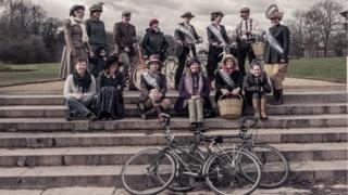 Suffragettes bike ride