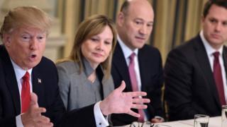 Trump'ın Strateji ve Politika Forumu'ndaki CEO'larla Şubat ayında gerçekleştirdiği toplantıdan bir kare