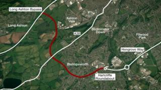 South Bristol Link Road map