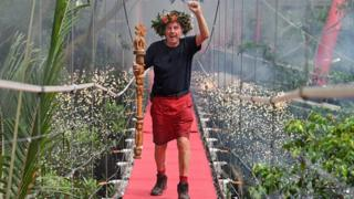 Harry Redknapp after being crowned king of the jungle in December 2018