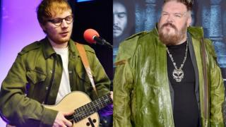 Ed Sheeran and Kristian Nairn