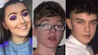 Lauren Bullock, Morgan Barnard and Connor Currie