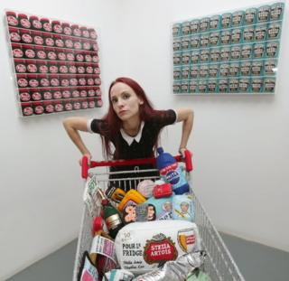 Lucy Sparrow's Shoplifting exhibition